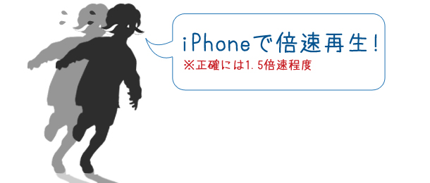 iPhoneで倍速再生!