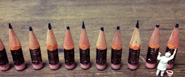 短くなった鉛筆をとっておくだけ