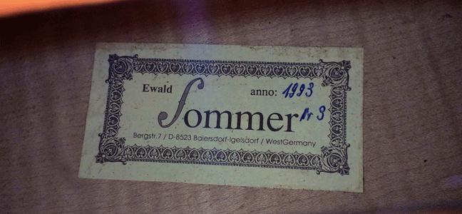 私のチェロEwald Sommerについて