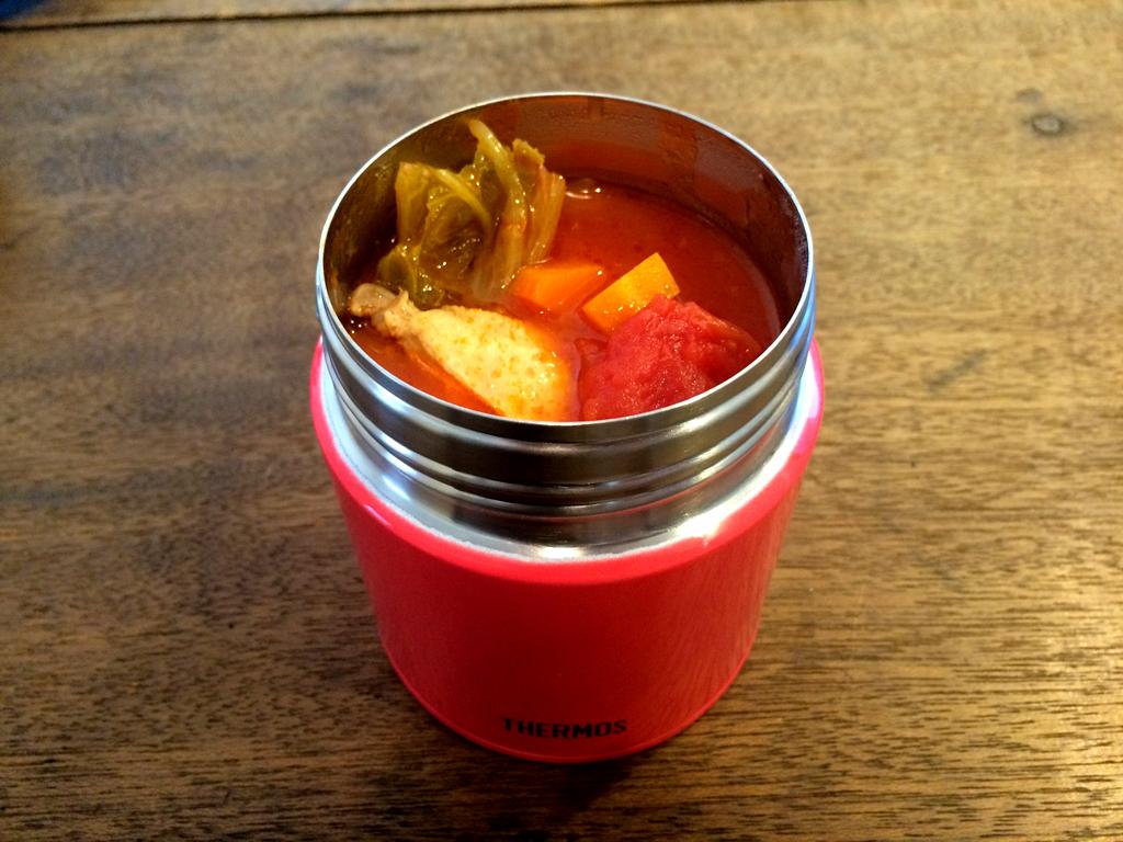 サーモスのスープジャーでゴロゴロ野菜の糖質制限ダイエット!