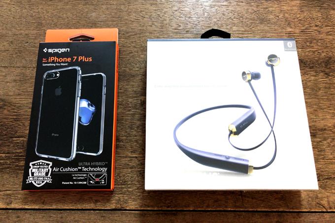 iPhone7Plusに機種変更! ケースはSpigen ワイヤレスイヤホンはSol Republic SHADOW!
