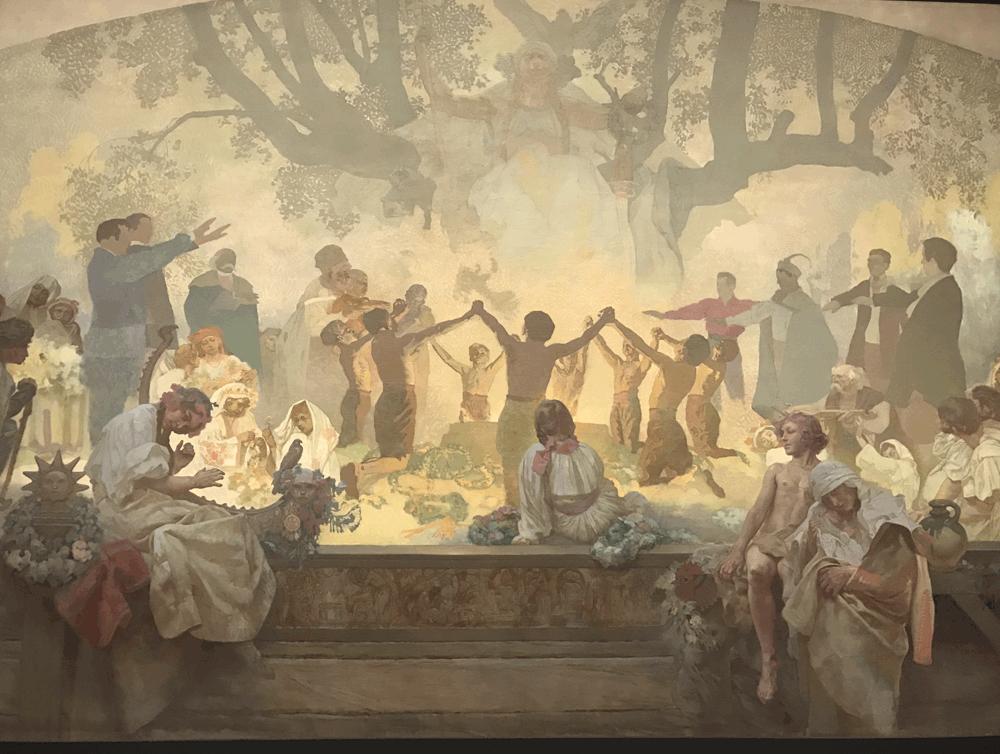 スラブ菩提樹の下で行われるオムラジナ会の誓い