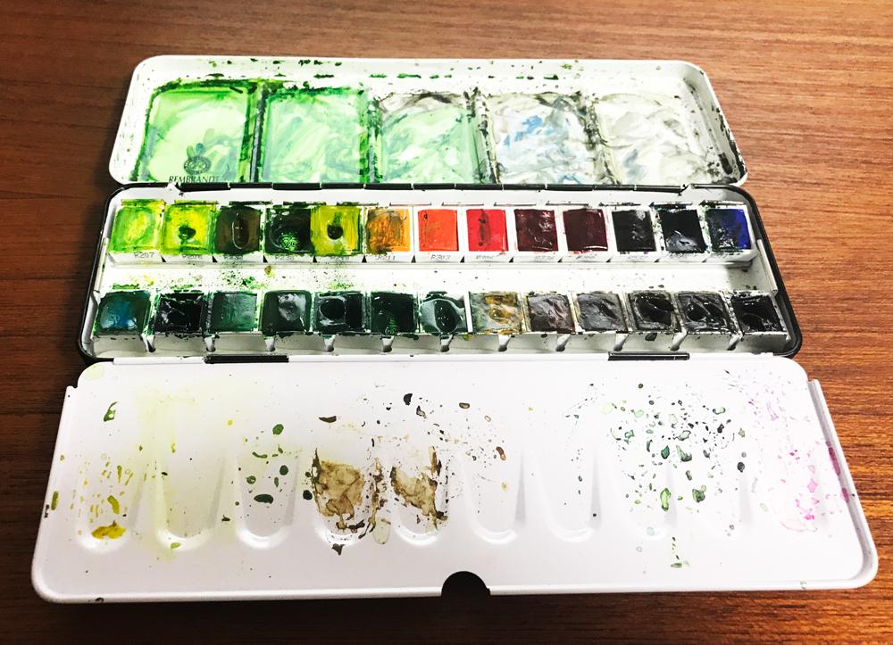 レンブラント固形水彩24色セット